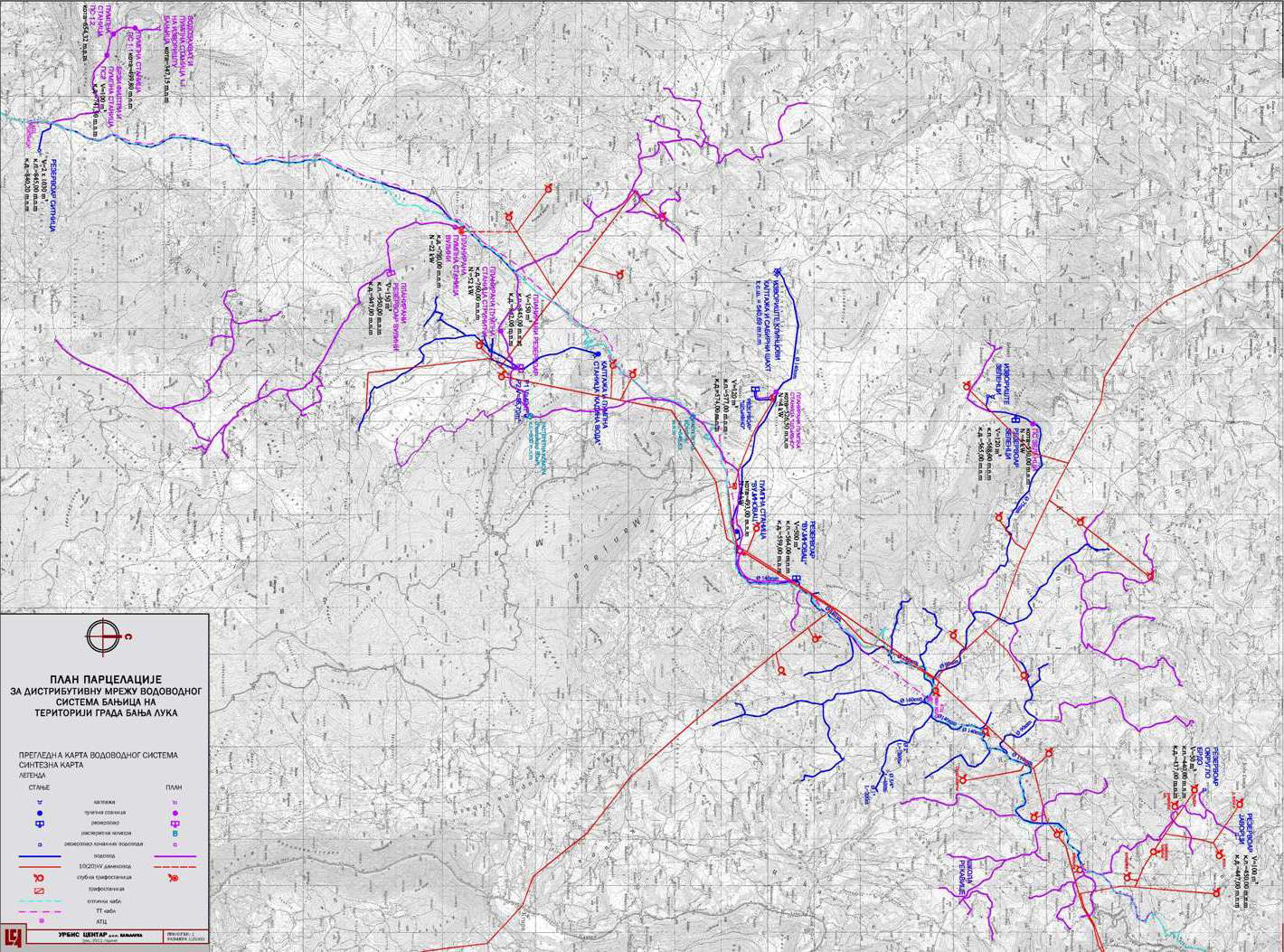 PARECLLING PLAN FOR THE WATER MAIN NETWORK BANJICA IN THE