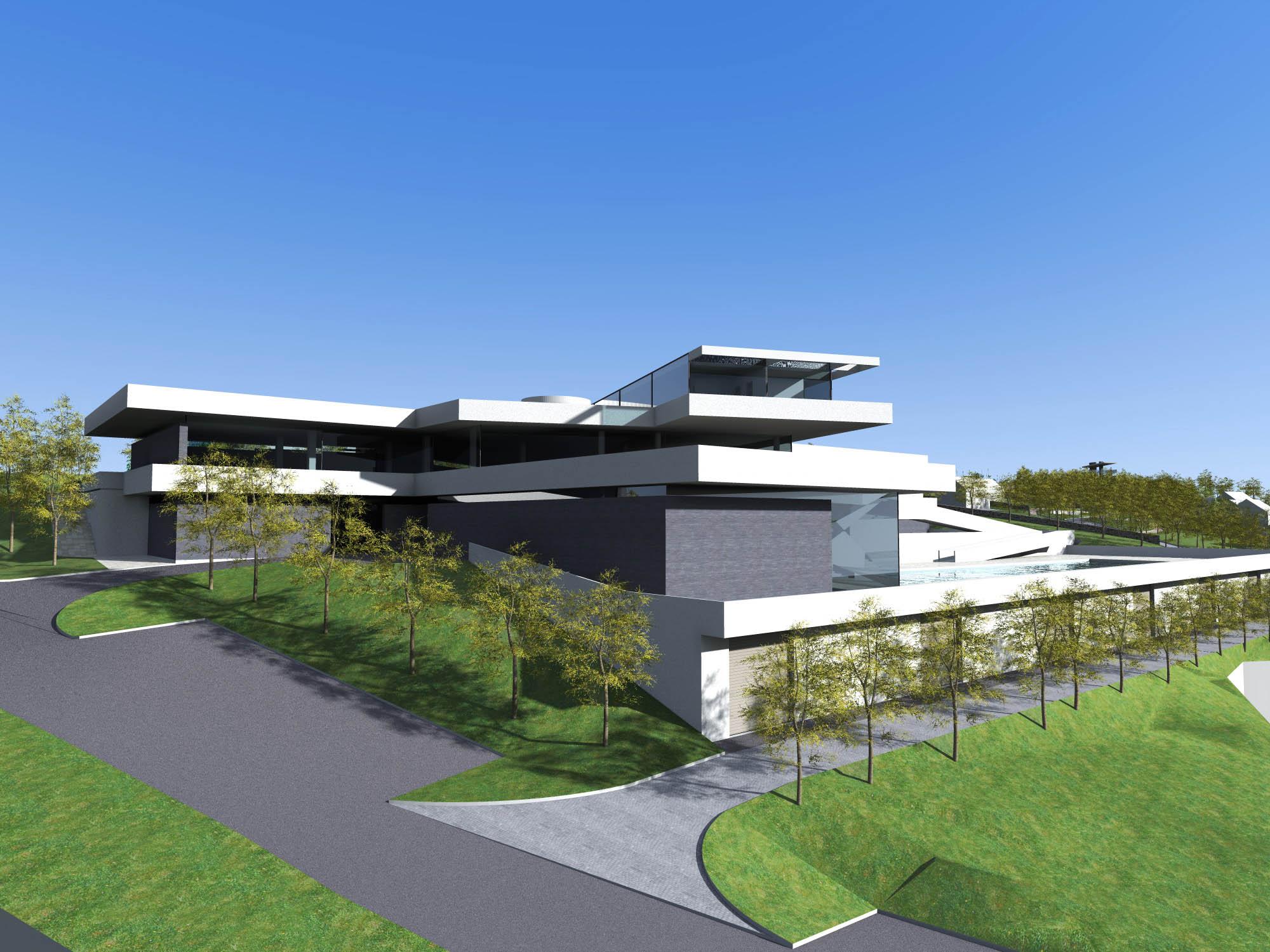 Concept design of the auto camp complex motel ethno for Motel exterior design